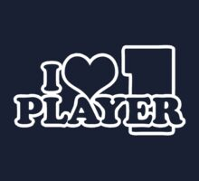I Heart Player 1 (e) Kids Tee