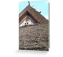 kayabuki-yane Greeting Card
