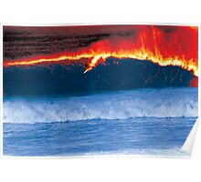 Ray on Fire. Bells Beach, Victoria, Australia Poster