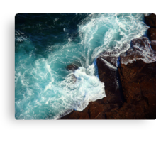 Salty water & rocks Canvas Print
