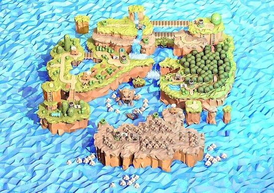 New Super Paper Mario World 3D Deluxe U by Steph Caskenette