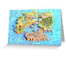 New Super Paper Mario World 3D Deluxe U Greeting Card
