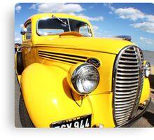 Yellow Pick Up Canvas Print