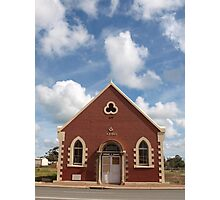 Masonic Hall in Pinjarra WA Photographic Print