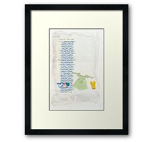 Domesticity Collage no 1 - Washday Framed Print