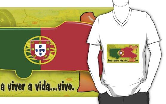 Autocaravana com Bandeira Portuguesa. by Jose M.F. Rebelo