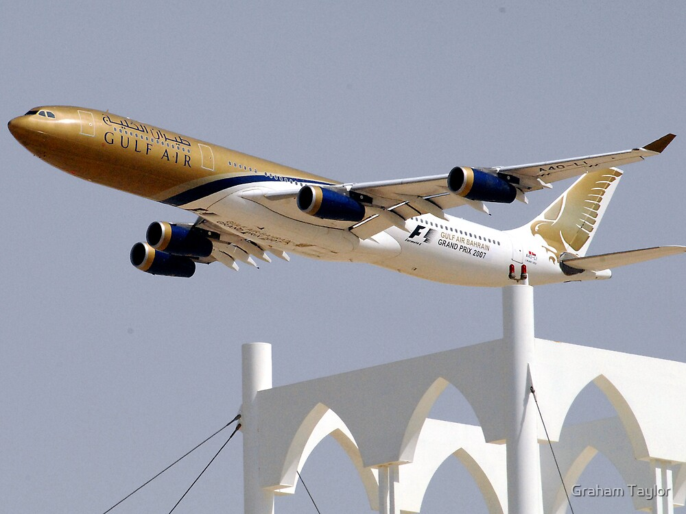 Gulf Air A340 by Graham Taylor