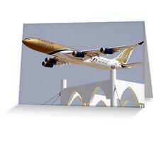 Gulf Air A340 Greeting Card