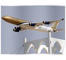 Gulf Air A340 Poster