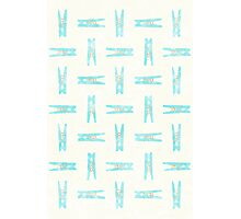Repeating Pegs Photographic Print