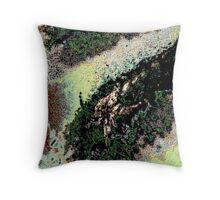 Modern moss, abstract, photo art Throw Pillow