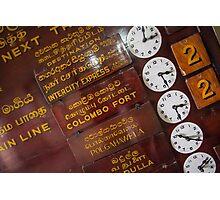 Kandy Clocks Photographic Print