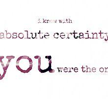 absolute certainty~ by Brandi Burdick
