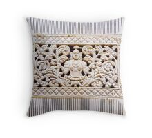 Ancient Carved Ivory Comb Throw Pillow