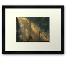 """Through the Smoke"" Framed Print"