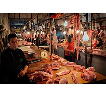 The market butcher Photographic Print