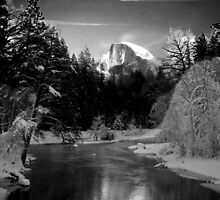 Half-Dome in Yosemite - a tribute to Ansel Adams by ImpaQtFX