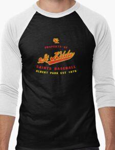 Property of St Kilda Baseball Club Script T-Shirt Black/White/Charcoal/Grey Men's Baseball ¾ T-Shirt