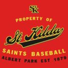 Property of St Kilda Baseball Club Script T-Shirt Red by St Kilda Baseball Club