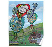 Hot Air Balloon Rides Poster