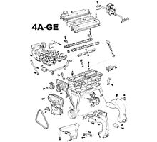 4A-GE Engine Diagram Photographic Print