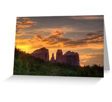 Sunset Sihlouette Greeting Card
