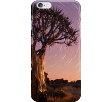 Quiver tree beneath star trails iPhone Case/Skin