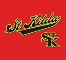 St Kilda Wordmark t-shirt red by St Kilda Baseball Club