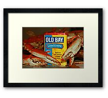 The Crabs and Old Bay - Framed Print