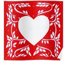 Valentine Heart Red Poster