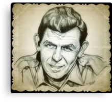 Andy Griffith drawing Canvas Print