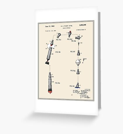 Space Capsule Patent (v2) Greeting Card