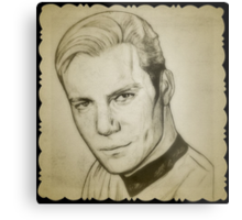 Captain Kirk, William Shatner drawing Metal Print