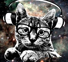 Space Kitty - Headphones On by hydraulicks