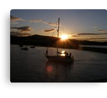 Sunset in Bray Harbour Ireland Canvas Print