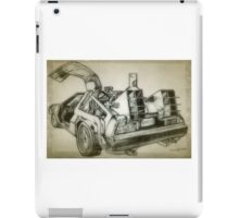 Delorean time machine drawing iPad Case/Skin