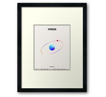 Hydrogen - Element Art Framed Print