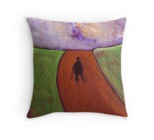 The lonely walk Throw Pillow