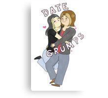 Date Grumps Canvas Print