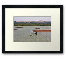 Lagoon Titchwell, Norfolk. Framed Print