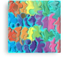 Color Puzzle Metal Print
