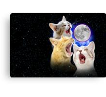 Exclusive Three Cat Moon Design! Canvas Print