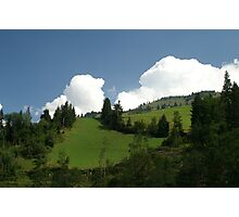 green slopes Photographic Print