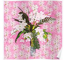 Pink and White Orchids so Shabby Poster