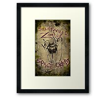 Space crabs Framed Print