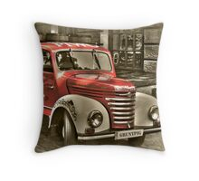 old red truck , krakow Throw Pillow