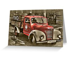 old red truck , krakow Greeting Card