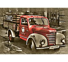old red truck , krakow Photographic Print