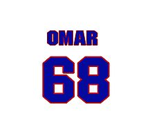 National baseball player Omar Beltre jersey 68 Photographic Print