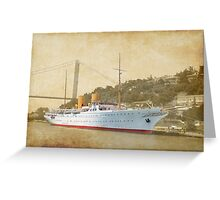 the old liner Greeting Card
